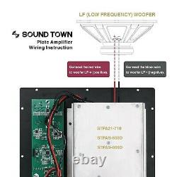 Sound Town Class-AB Plate Amp for PA Subwoofer withSpeaker Outputs LPF(STPA21-710)