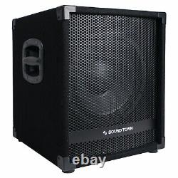 Sound Town METIS 1400W 12 Powered PA DJ Subwoofer with 3 Voice Coil METIS-12SPW