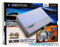 Soundstream Mr1.2000d Monoblock 2000w Subwoofers Speakers Marine Boat Amplifier