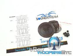 Soundstream T5.104 Sub 10 Tarantula 1800w Max Dual 4-ohm Subwoofer Speaker New