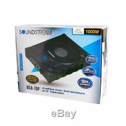 Soundstream Usb-10p 10 1000w Under Seat Car Subwoofer Bass Speaker Amplifier