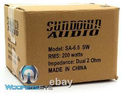 Sundown Audio Sa-6.5 Sw D4 6.5 200w Rms Dual 4-ohm Subwoofer Bass Speaker New
