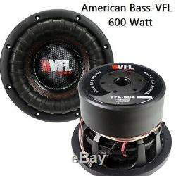 VFL8D4 Competition 8 Subwoofer Audio Speaker American Bass 1200W 100 Oz Magnet
