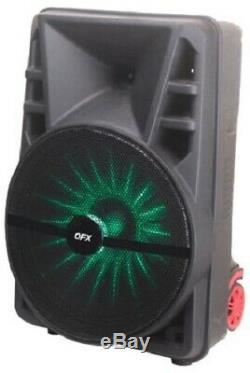 12 3600w Portable Bluetooth Haut Parleur Woofer Lourd Basse Party Sound System