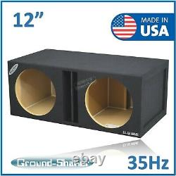 12 Dual Center Vented/ported Sous-boîte Subwoofer Enclosure Speaker Box Car Audio