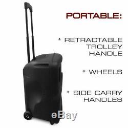 15 3600w Portable Bluetooth Haut Parleur Woofer Lourd Basse Party Sound System