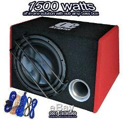 1500 Watts 12 Sous Basse Audio Voiture Boîte Woofer Ampli Amplifié Actif New 2019/20