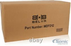 2 12 4600w Rms Patron Caissons De Basse De Voiture + Étanche Sub Box Boîtier + Haut-parleur Fil