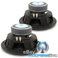 (2) Alpine W10s4 10 Subs Car Audio 4 Ohms 750w Haut-parleurs Subwoofers Basse Paire New