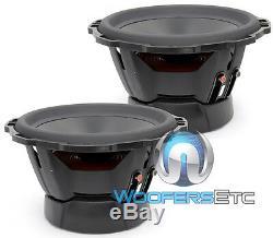 2 Fosgate Rockford Punch P3d2-12 Subs 12 Dual 2 Ohms Haut-parleurs 1200w Caissons De Basse