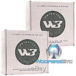 2 Jl Audio 12w3v3-2 Voiture 12 Subs 2 Ohms 2000w Max Subwoofers Enceintes Bass Nouveaux