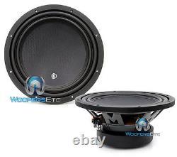 (2) Memphis Mcr12d4 12 Subs DVC 4-ohm 600w Subwoofers Clean Bass Speakers Nouveau