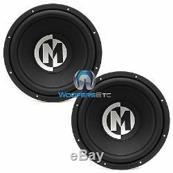 2 Memphis Pr12d4v2 Car DVC 12 Subs 1200w Pro-parleurs Basses Caissons De Basse Haut-parleurs Nouveau
