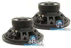 (2) Memphis Prx12d4 12 Subs 500w Dual 4 Ohms Voiture Subwoofers Enceintes Bass Nouveaux