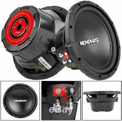 (2) Memphis Srx1044 10 Subs 400w Double 4 Ohms Caissons De Basse De Voiture Haut-parleurs Nouveaux
