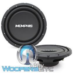 (2) Memphis Srxs1244 12 Dual 4 Ohms Shallow Subwoofers Mince Enceintes Bass Nouveau