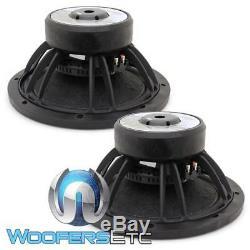 (2) Precision Power Pro 15 P 15d4 3600w Dual 4 Ohms Subwoofers Enceintes Bass Nouveaux