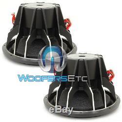 (2) Soundstream T5.152 Subs Pro 15 5200w Max Dual 2 Ohms Haut-parleurs Subwoofers Nouveau