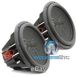(2) Soundstream T5.154 Subs Pro 15 5200w Max Dual 4 Ohms Haut-parleurs Subwoofers Nouveau