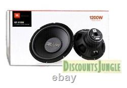 2 Sous-marins Jbl Gt-x1200 12 Subs 1200w 4 Ohm Subwoofers Bass Intervenants Car Audio Nouveau