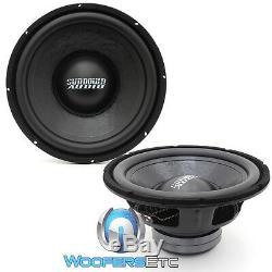 (2) Sundown Audio-12d4 12 Lcs Double 300w 4 Ohms Rms Subwoofers Enceintes Bass Nouveaux