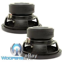 (2) Sundown Audio E-10 V. 3 D2 10 Subs 500w Rms Double 2 Ohms Haut-parleurs D'extrêmes Graves