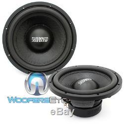 (2) Sundown Audio E-12 V3 D4 12 500w Rms Double 4 Ohms Subwoofers Voiture Haut-parleurs Nouveau