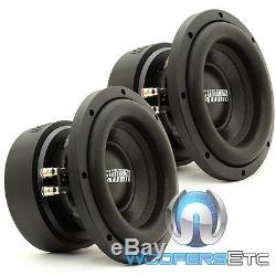 (2) Sundown Audio E-8 V. 5 D2 8 Subs 300w Rms Dual 2 Ohms Caissons De Haut-parleurs De Voitures