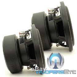 (2) Sundown Audio E-8 V. 5 D4 8 Subs 300w Rms Dual 4 Ohms Haut-parleurs D'extrêmes Graves Voitures