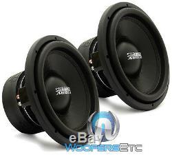 (2) Sundown Audio Sa-12 D2 Rev. 3 Subs 12 750w Dual 2 Ohms Haut-parleurs D'extrêmes Graves