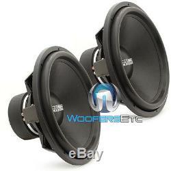(2) Sundown Audio Sa-18 Rev3 D2 18 1500w Rms DVC 2 Ohms Caissons De Basses-parleurs