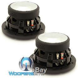 (2) Sundown Audio Sa-6,5 Sw D2 6,5 Subs 200w Rms Double 2 Ohms Haut-parleurs D'extrêmes Graves