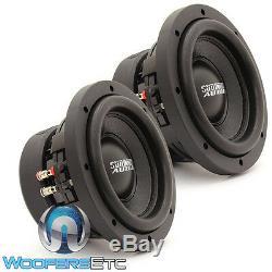 (2) Sundown Audio Sa-6,5 Sw D4 6,5 Subs 200w Rms Double 4 Ohms Haut-parleurs D'extrêmes Graves