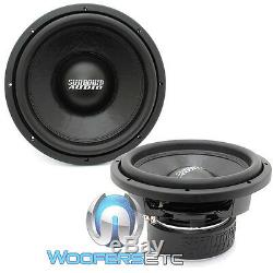 (2) Sundown Audio Sa-d4 12 Rev. 3 Subs 12 750w Dual 4 Ohms Haut-parleurs D'extrêmes Graves