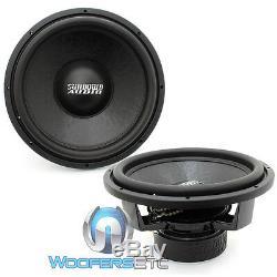 (2) Sundown Audio Sa-d4 15 Rev. 3 Subs 15 750w Dual 4 Ohms Haut-parleurs D'extrêmes Graves