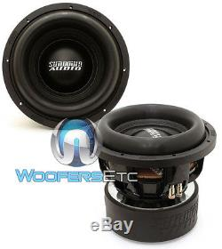 (2) Sundown Audio X-10 V. 2 D4 Révision 2 Pro 10 Double 1500w 4 Ohms Rms Subwoofers