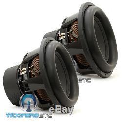 (2) Sundown Audio X-15 V. 2 D2 15 2 Ohms Double 1500w Rms Caissons Basses Haut-parleurs