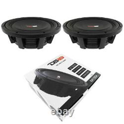 2x 12 Shallow Montage Subwoofers 2400w Dual 4 Ohm Pro Haut-parleurs Ds18 Sw12d4