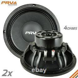 2x Prv Audio 10w1000-ndy-4 10 Pro Audio Neodymium MID Woofer Speaker 4ohm 2000w