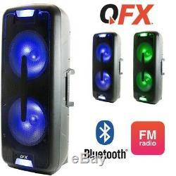 2x12 8600w Portable Bluetooth Haut Parleur Woofer Lourd Basse Party Sound System
