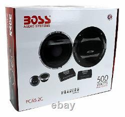 4 Boss Audio Pc65.2c 6.5 1000w Voiture 2 Composants De Voie Ensemble Audio Pc652c