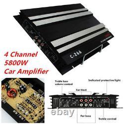 4 Channel 5800w Suv Trucks Car Amplificateur Stereo Audio Speaker Amp Pour Subwoofer