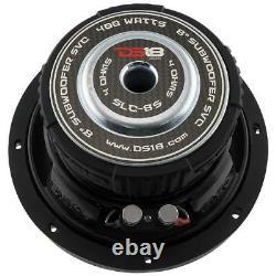 8 Car Audio Subwoofer 1600w Max Svc 4 Ohm Bass Sous-haut-parleur 2 Paire Ds18 Slc-8s