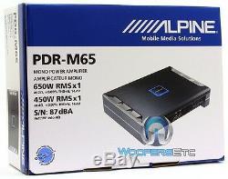 Alpine Pdr-m65 Monoblock 1300w Max Subwoofers Haut-parleurs Stéréo De Voiture D'ampli Basse