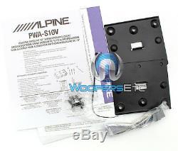 Alpine Pwa S10v 10 Sous 750w Clos Subwoofer Basse Enceintes Amplificateur Nouveau