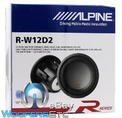 Alpine R-w12d2 12 Dual 2 Ohm Type-r 2250w Pro Fort Subwoofer Sub New