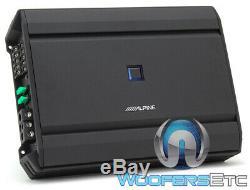 Alpine S-a55v 60w 5 Canaux Rms X 4 + 300w Rms X 1 Composant Amplificateur De Haut-parleurs