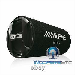 Alpine Swt-12s4 12 1500w Subwoofer Ported Tube Enclosure Bass Speaker & Grille