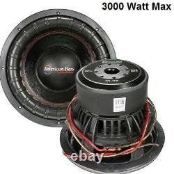 American Bass 12 Subwoofer Xfl-1222 Car Audio Speaker Dual 2 Ohm 3000w Max Nouveau