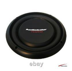 Audiobahn 1200w 10 25cm Sub Woofer Slim Shallow Car Audio Bass Speaker 4 Ohm